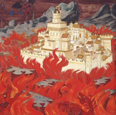 Н.К.Рерих Пречистый Град – врагам озлобление 1912