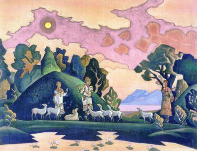 Николай Рерих Кришна-Лель Святой Пастырь 1932